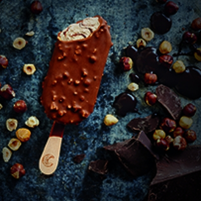 Stephanie Somebody styles Connoisseur Ice Cream's new Belgian Chocolate with Roasted Hazelnuts campaign