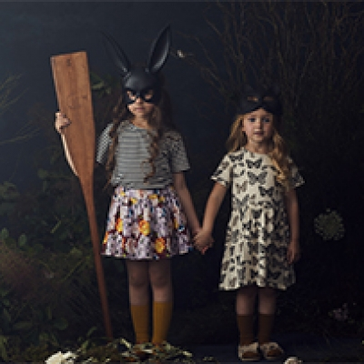 Hayley Sparks & stylist Emma Wood for Phoenix and the Fox's 'Night Garden' campaign