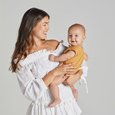 Hayley Sparks & stylist Emma Wood for One Fine Baby