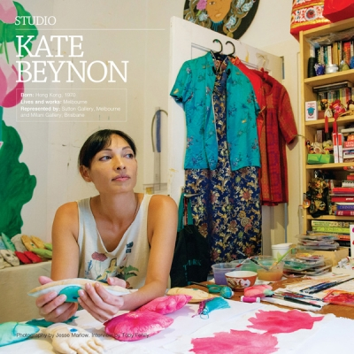 Jesse Marlow captures Kate Benyon's studio for Art Guide