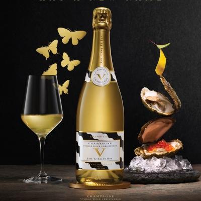James Newman for Les Cinq Filles Champagne Cuvées